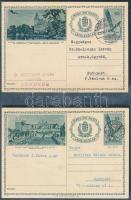 13 db különböző futott képes díjjegyes levelezőlap