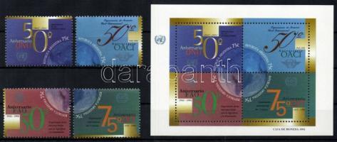 International Organisation set + mini sheet, Nemzetközi szervezetek sor+kisív