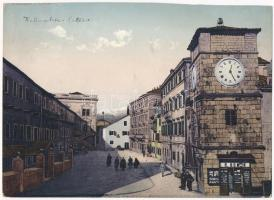 Kotor, Cattaro; Waffenplatz / square, shop, clock tower. Giant non PC card (23,8 x 17,2 cm) (b)