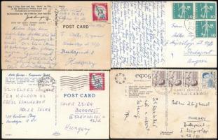 14 db képeslap Adler Zsigmond (1901-1982) ökölvívó, szövetségi kapitány részére