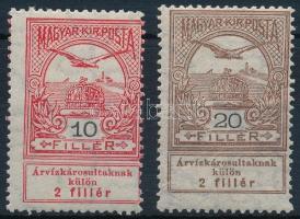 1913 Árvíz 10f képbe fogazva + 20f egy fogsorral magasabbra fogazva