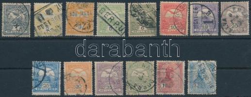 14 db Turul bélyeg