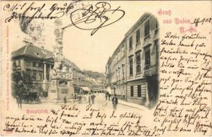 1902 Baden bei Wien (Baden), Hauptplatz / main square (fl)