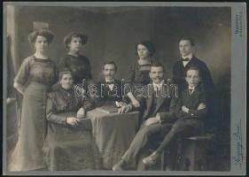 cca 1898 Budapest, Rozgonyi Dezső fényképész műtermében készült, keményhátú vintage fotó, 17,6x24,5 cm