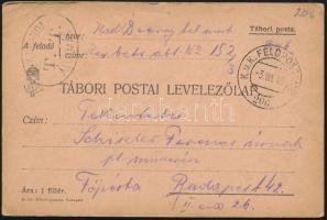 1915 Tábori posta levelezőlap FP 206