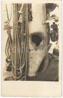 1917 SMS Novara az Osztrák-Magyar Haditengerészet Helgoland-osztályú gyorscirkálója, sérülés az otrantói csata után / K.u.K. Kriegsmarine / Austro-Hungarian Navy Helgoland-class light cruiser, damage after the battle of Otranto. photo