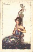 1923 Lady. Italian art postcard. Anna & Gasparini 535-3. s: A. Busi (EB)