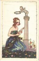 1923 Lady. Italian art postcard. Anna & Gasparini 535-4. s: A. Busi (EK)