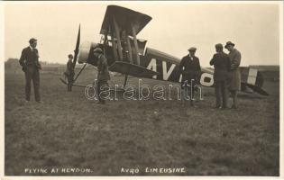 Flying at Hendon, Avro Limeusine aircraft. photo