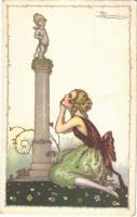 1923 Lady. Italian art postcard. Anna & Gasparini 535-1. s: A. Busi (EK)