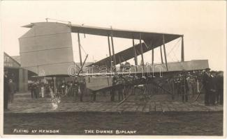 Flying at Hendon, The Dunne Biplane aircraft. photo