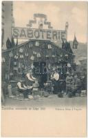 1905 Liege, Exposition universelle, Saboterie Didier a Fragnée / Sabotry, shoemakers, folklore