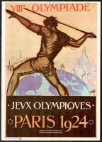 Az 1924-es párizsi olimpia plakátjának modern reprintje 35x25 cm