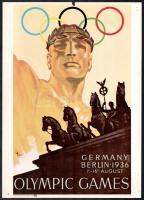 Az 1936-os berlini olimpia plakátjának modern reprintje 35x25 cm