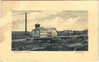 1912 Csap, Cop, Chop; új fűtőház, iparvasút építés közben. W.L. Bp. 1911-13. Glück Imre kiadása / heating house, industrial railway construction (fl)