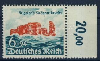 1940 Helgoland Mi 750 ívszéli