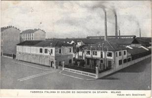 Milano, Milan; Fabbrica Italiana di Colori ed inchiostri da Stampa / Italian factory of colors and printing inks