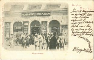 1902 Mostar, Hauptstrasse / main street, shop, publishing house of Pacher & Kisic (fa)