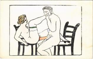 Pornographic erotic art postcard (fl)
