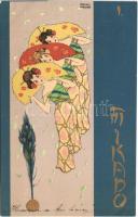 Mikado I. Asian style Art Nouveau litho s: Raphael Kirchner