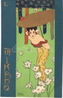Mikado II. Asian style Art Nouveau litho s: Raphael Kirchner