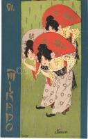 Mikado VI. Asian style Art Nouveau litho s: Raphael Kirchner