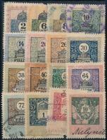1903 16 db különböző régi magyar okmánybélyeg