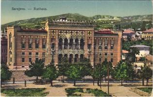 Sarajevo, Rathaus / town hall + K.u.K. Stabile Radiostation Sarajevo