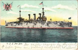 1906 USS New York (ACR-2/CA-2) second United States Navy armored cruiser