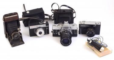 Vegyes fényképezőgép tétel: Minolta SRT 101, Smena 8, stb., 4 db