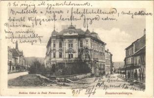 1905 Besztercebánya, Banská Bystrica; Bethlen Gábor és Deák Ferenc utca. Walther Adolf és társai kiadása / streets
