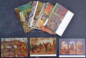 60 db MODERN használatlan motívum képeslap: művész / 60 modern unused motive postcards: art
