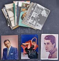 87 db MODERN motívum képeslap: színészek és énekesek / 87 modern motive postcards: actors and singers