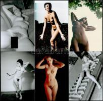 Különböző időpontokban, eltérő helyszíneken, több fotómodell közreműködésével készült 10 db szolidan erotikus fotó, mai nagyítások, 15x10 cm