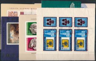 1975-1976 7 klf kiadás blokkjai és kisívei, összesen 31 db (11.300)