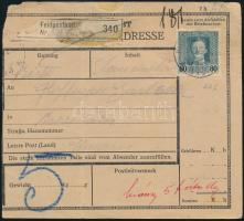 1918 Tábori posta csomagszállító 80h bérmentesítéssel HP 446