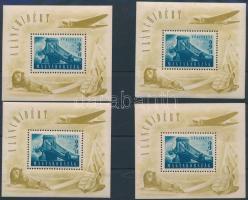 1948 4 db Lánchíd II blokk (120.000) (vegyes minőség / mixed quality)