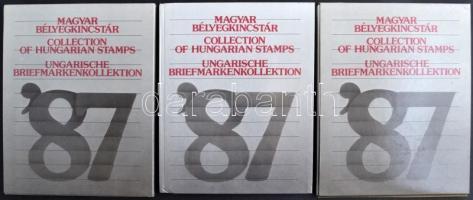 3 db 1987-es Bélyegkincstár ajándék blokkok nélkül (30.600)
