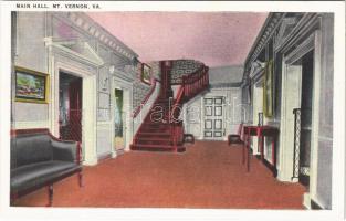 Mount Vernon (Virginia); main hall