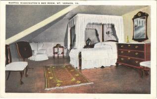 Mount Vernon (Virginia); Martha Washingtons bed room