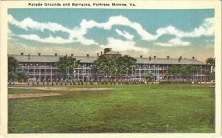 Fortress Monroe (Virginia); parade grounds and barracks