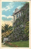 1923 Florida, roses and bouganville (EK)