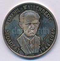 Bognár György (1944-) DN Raoul Wallenberg - Budapest 1944-1945 Ag emlékérem dísztokban (31,33g/0.999/42,5mm) T:1- (PP) patina