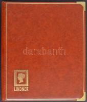 Lindner 20 fekete lapos luxus berakó, barna borítóval, megerősített sarkokkal