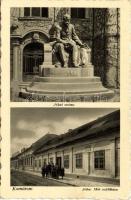 Komárom with Jókai statue and Jókai birth house