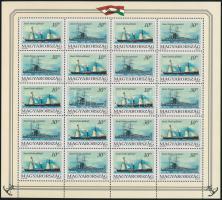 1993 3 db Magyar tengeri hajók teljes ív (10.500)