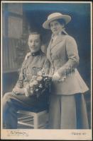 1916 Prága, Frant. Steinich fényképész műtermében készült keményhátú, datált vintage fotó, 16,3x10,8 cm