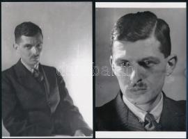 Kinszki Imre és fényképezőgépe, 4 db mai nagyítás régi negatívokról, 15x10 cm