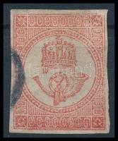 1871 Könyvnyomású Hírlapbélyeg lemezhibákkal