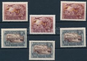 1950 Bélyegmúzeum (I.) 3 db sor (10.500)